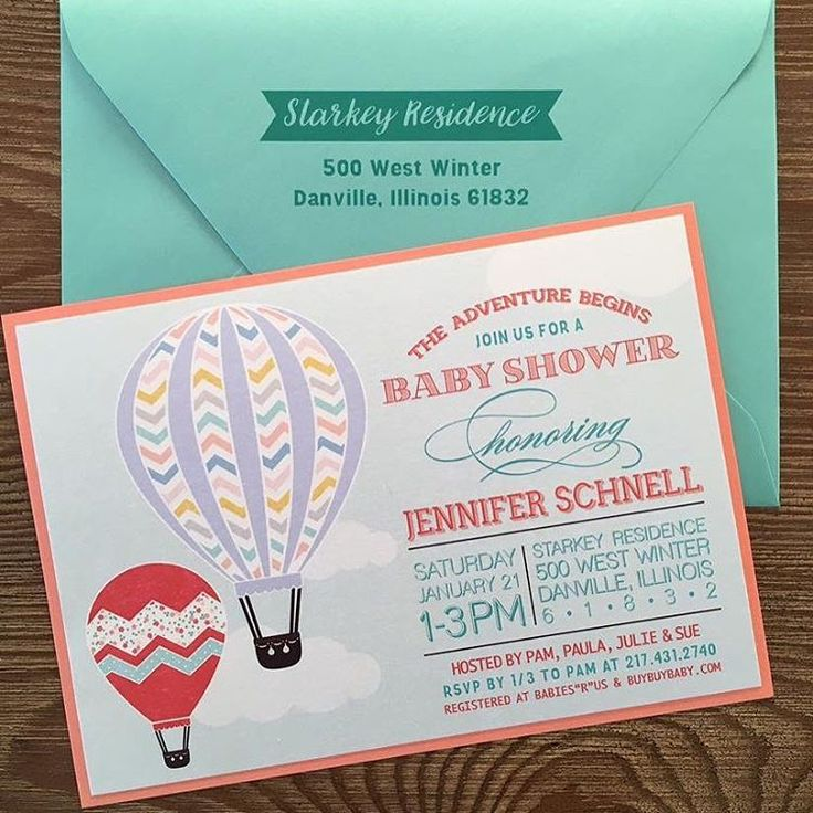 The Adventure Begins Baby Shower Invitations We