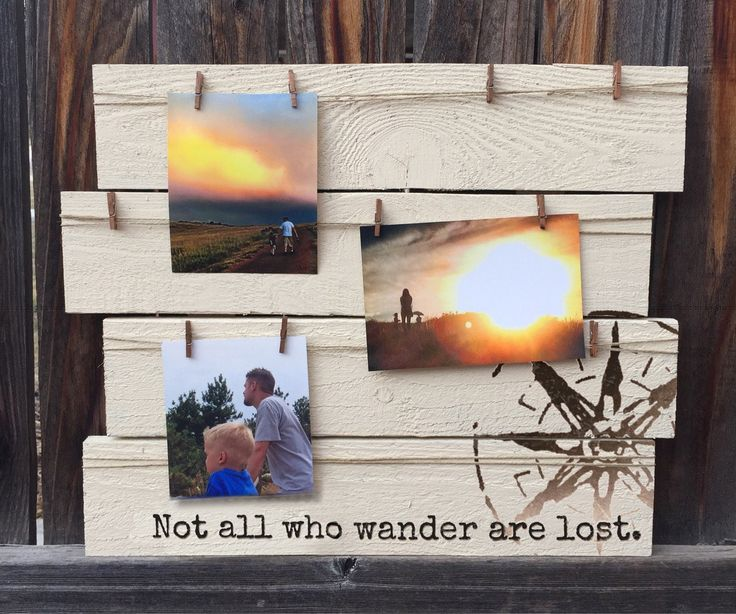 Not All Who Wander Are Lost, Picture Display Board, Photo Display, Travel Board, Clothespin Photo Hanger by MegAndMosClubhouse on Etsy