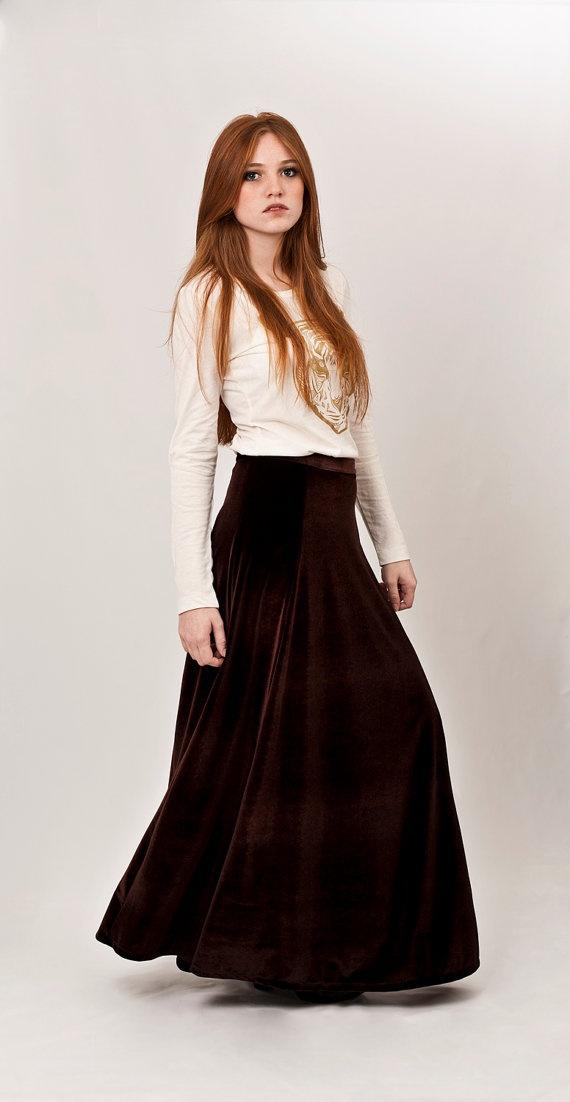 Long brown maxi skirt – Modern skirts blog for you