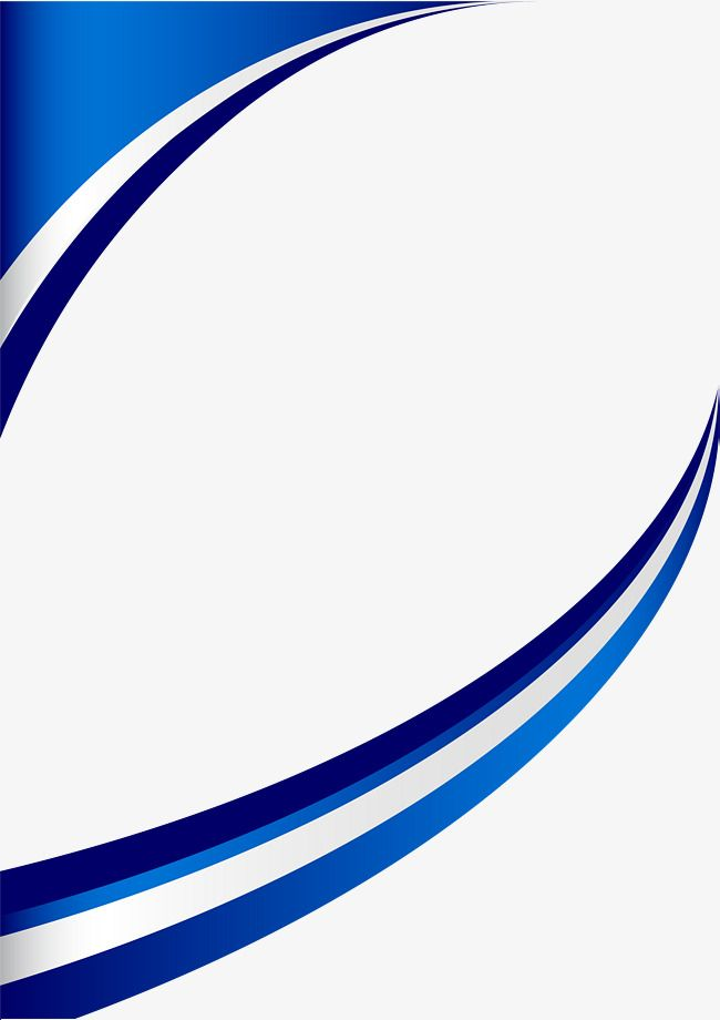 Blue Fresh Curve Border, Green, Fresh, Curve PNG Image and ...