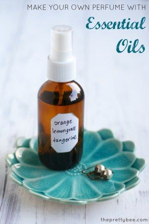 Make your own mood boosting perfume with essential oils.