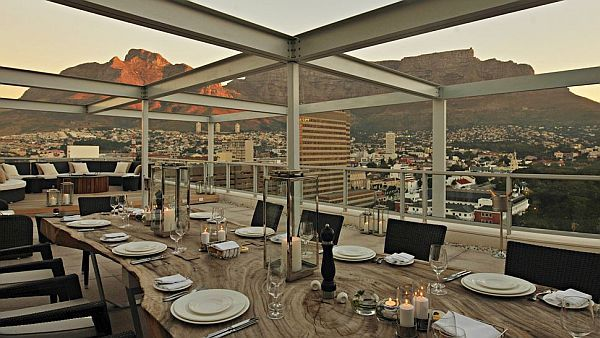 The Taj Hotel, Cape Town, South Africa. Spectacular view of Table Mountain.