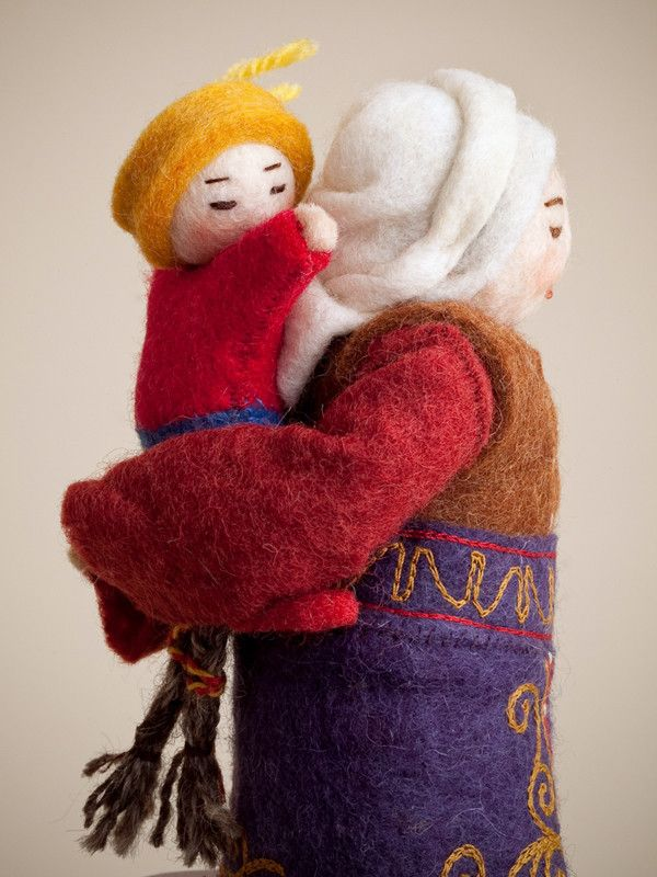 Erkebu, Kyrgyzstan, Felt, Dolls, Home Decor