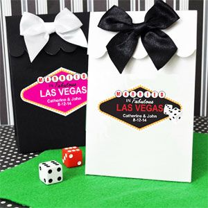 Wedding Favors & Party Supplies - Favors and Flowers :: Favor Packaging :: Hang Tags and Stickers :: Unique Personalized Stickers :: Married in Las Vegas Die-Cut Labels - 10 pcs