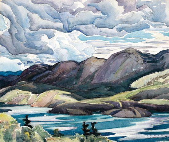 Franklin Carmichael - Cranberry Lake, La Cloche 11.25 x 13.25 Watercolor on paper (1926)