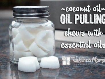 Coconut oil - oil pulling chews with essential oils