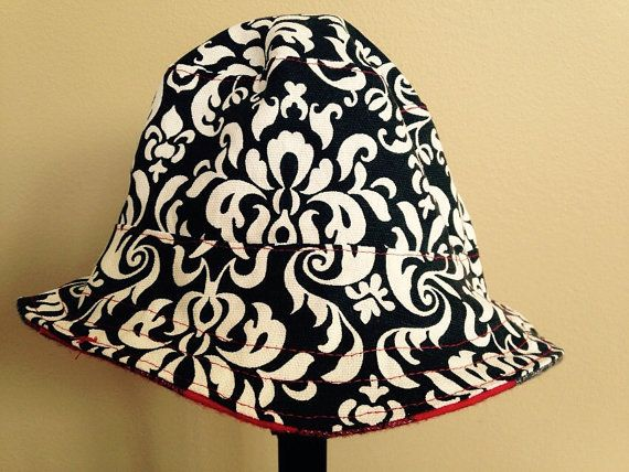 Reversible bucket hat for toddler girl scarlet and by BOSHandmade