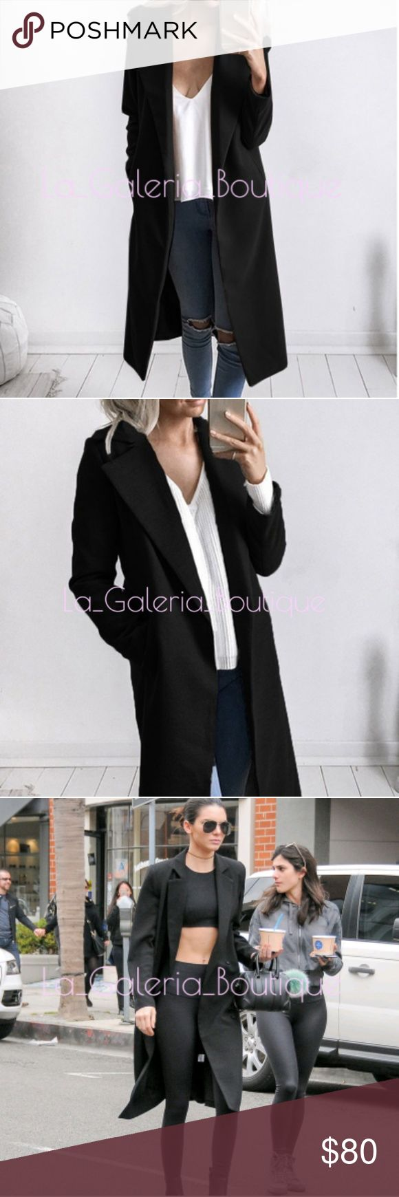 🆕️ LONG BLACK TRENCH COAT DUSTER JACKET 🆕️LONG BLACK TRENCH COAT DUSTER JACKET Perfect for the oversized look!💕 COLOR: BLACK 100% BRAND NEW MATERIAL: POLYESTER  High quality, very soft and comfortable. It is very popular and sexy design, we believe you will love it!. Manual measurement, There is 2-3% difference according to manual measurement. please check the measurement chart carefully before you buy the item.  Thank you,  for your support!.💕 boutique Jackets & Coats Trench Coats