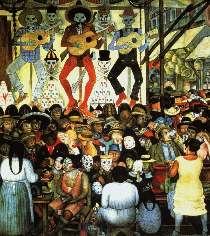 Diego Rivera. Day of the Dead. 1924.