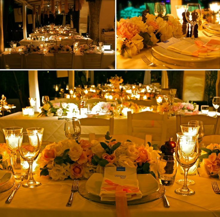 More dinner table arrangements!Luxurious and romantic atmosphere!