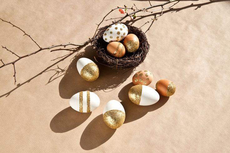 Una manualidad DIY para conseguir que tu decoración de Pascua... ¡brille!