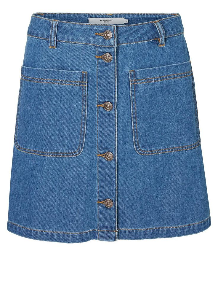 The denim skirt in a 70s silhouette from VERO MODA.