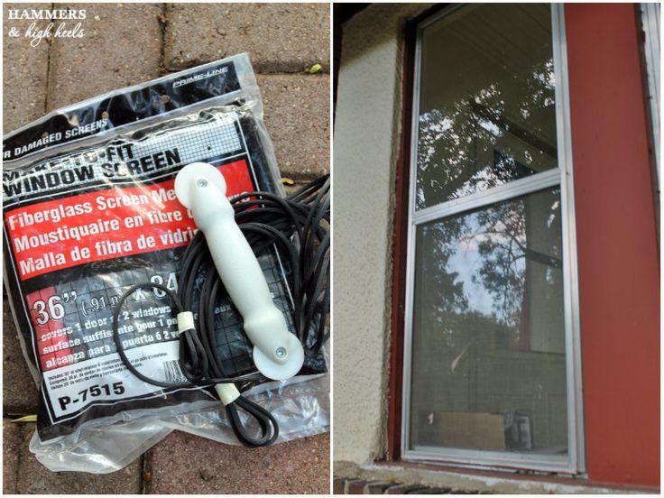 Hammers and High Heels: Head Over Heels DIY Friday: Window Screen Repair & Replacement