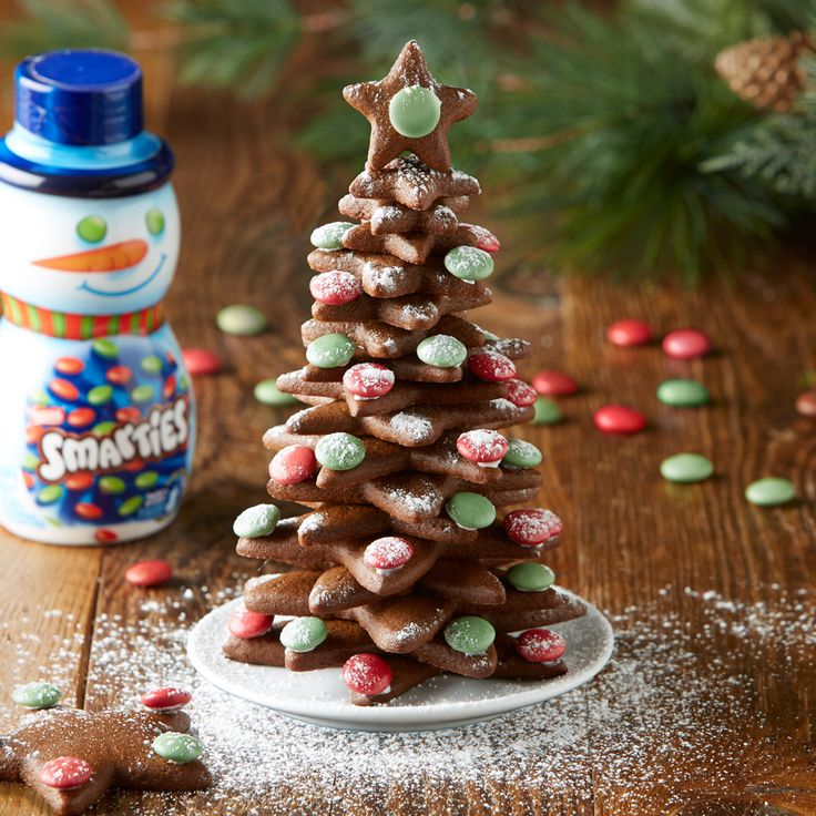 SMARTIES Tree-t Create this perfect party Tree-t by decorating star-shaped sugar cookies with SMARTIES, then stacking and sharing!