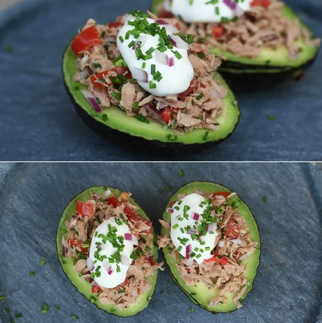 Lækre fyldte avocadoer med dejligt tunfyld. De er super gode både til frokost, aftensmad og som forret.