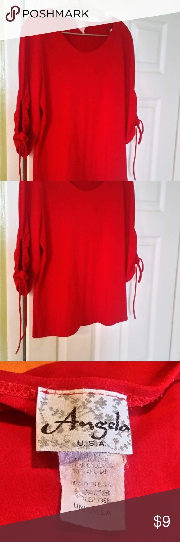 Last Price Drop - Red Blouse Red Blouse 👚 perfect with some jeans. Gently used. Angela Tops Blouses