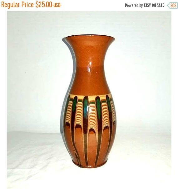 Vintage Pottery Vase,Southwestern Vase,Turquoise,Teal,Vase,Pottery,Clay Vase,Pottery Art Vase,Southwestern,Ranch,MCM,Vintage Pottery by JunkYardBlonde on Etsy