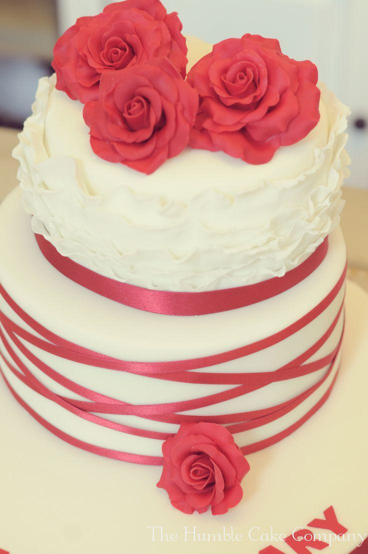 25 best Ruby wedding celebration cakes images on Pinterest   Cake ...