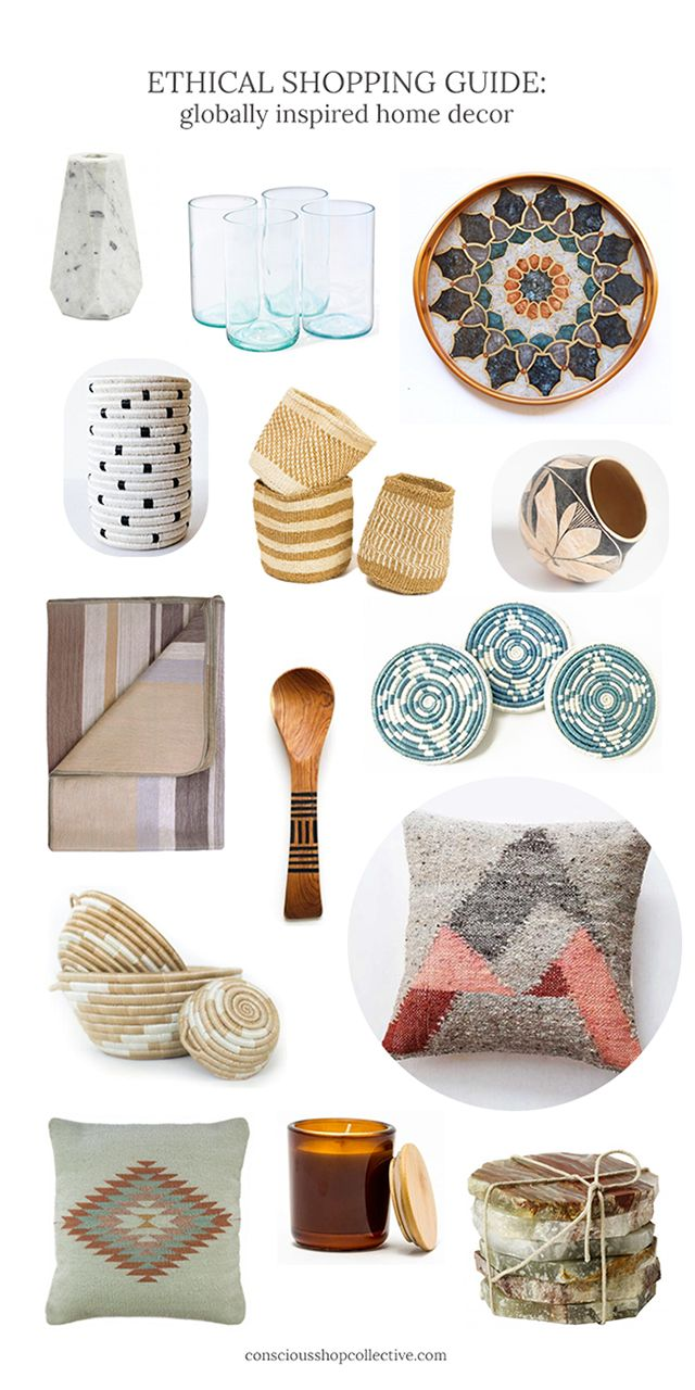 Shop picks from 12 brands from 8 countries around the world in our guide to globally inspired home decor - Ethical Shopping on Conscious Shop Collective