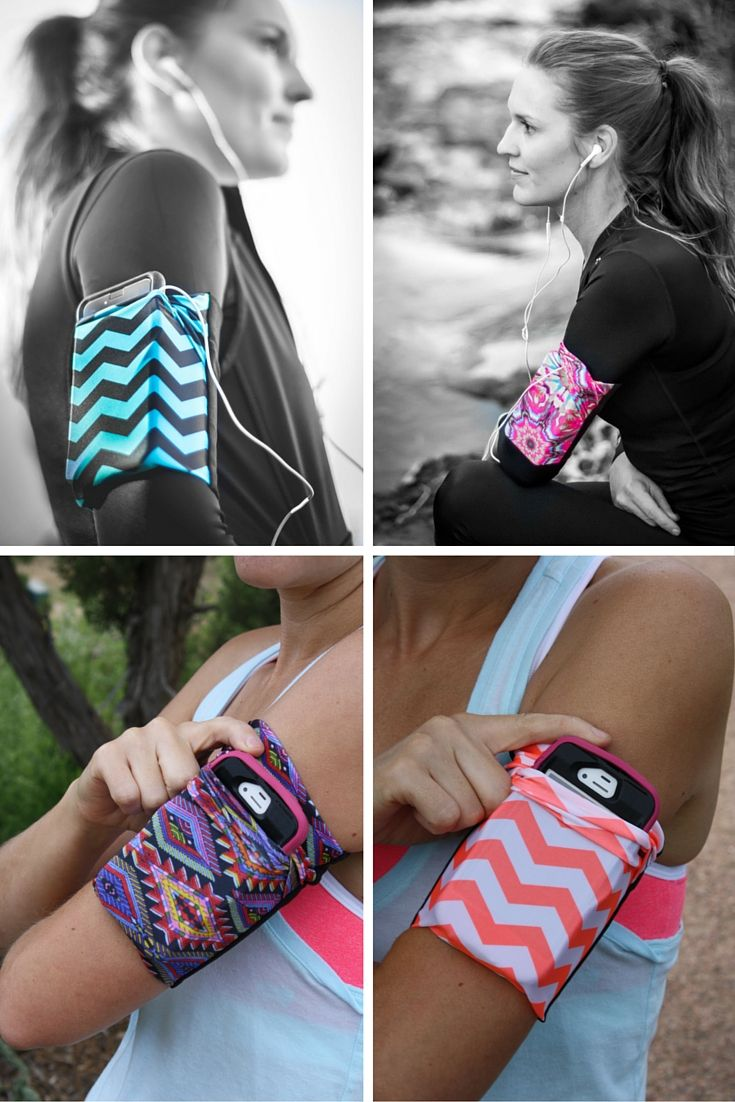 Stylish cell phone armband that is comfortable and stays put!