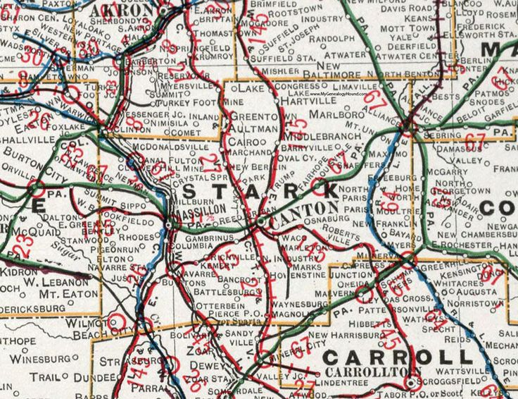 88 best historic ohio county maps images on pinterest cards stark county ohio 1901 map canton massillon oh sciox Images