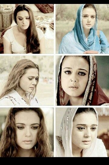 Preity Zinta in the movie veer & zaara