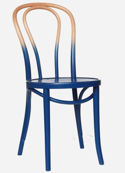 Interesting Color On A Classic Bent Wood Chair