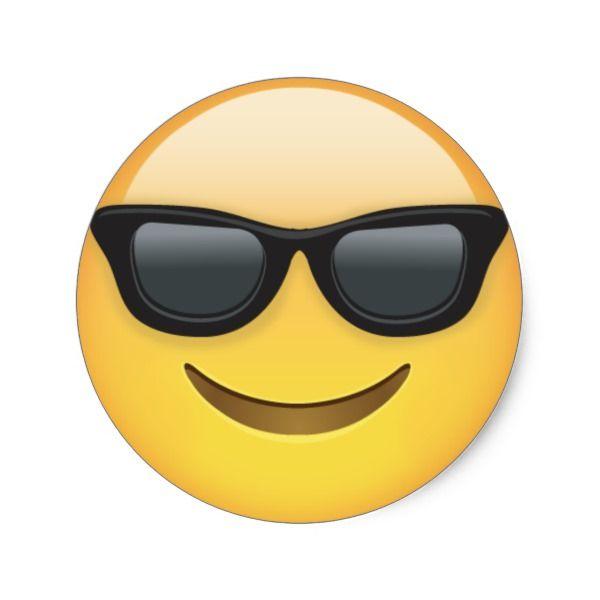Cool Sunglasses Emoji Dude Stickers Zazzle Com In 2020 Cool Emoji Emoji Cool Sunglasses