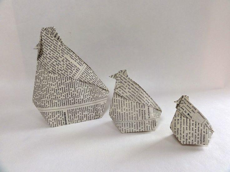 Je suis créative et je m'amuse avec Stampin'Up!: Poule origami surprise