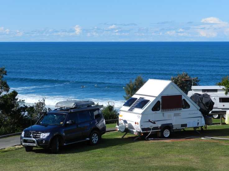 Caravanning. Bonny Hills Holiday Park, NSW.