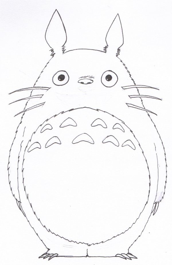 LineArt Totoro by SilverU121 on DeviantArt                                                                                                                                                                                 More