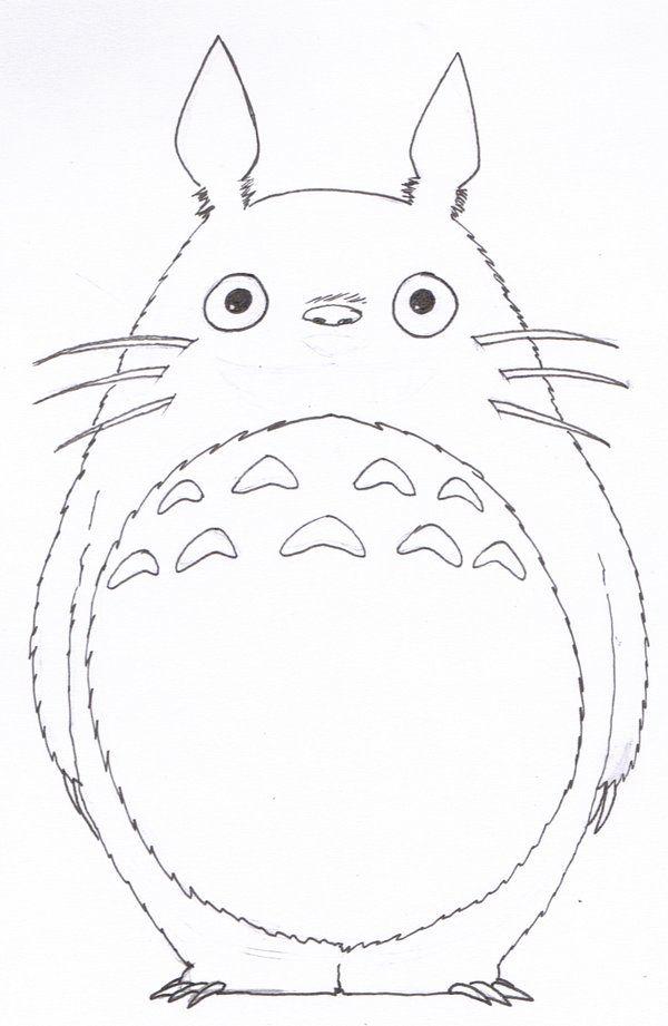 LineArt Totoro by SilverU121 on DeviantArt