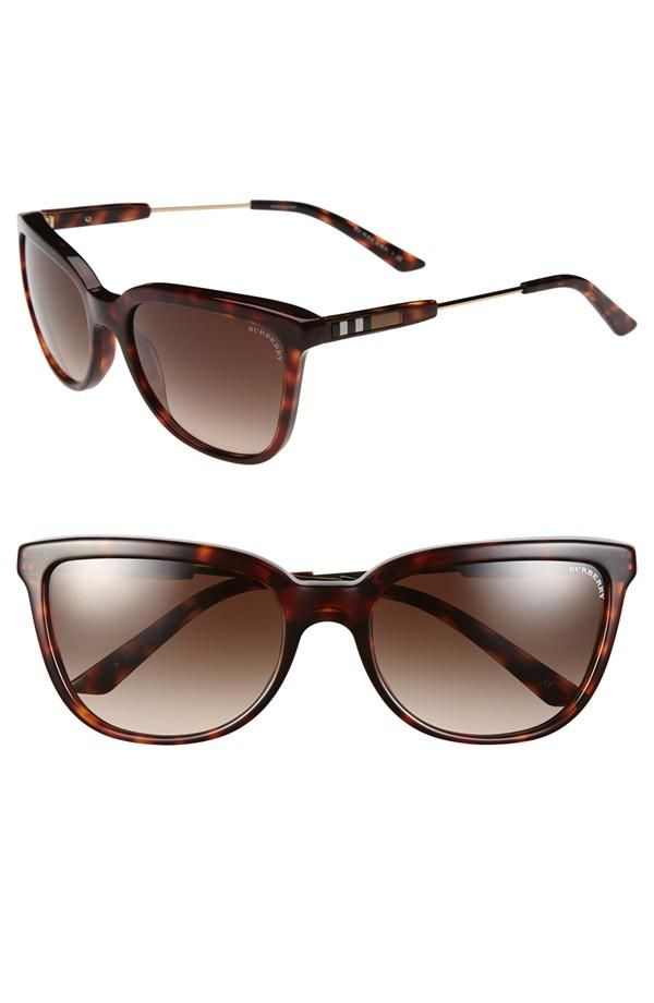 Free shipping and returns on Burberry Square Sunglasses at The temples of these gradient-lens shades feature insets of the iconic checks for a signature ...