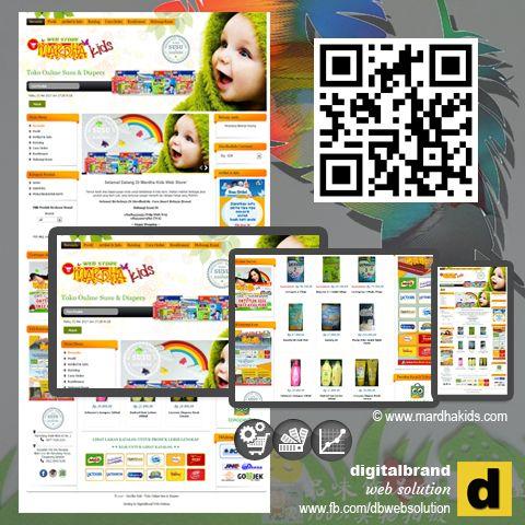 Website Toko Online. Didesain unik sesuai bisnis jualan online produk perlengkapan bayi, susu dan diapers. Konsep klasik memberikan kemudahan untuk eksplore produk yang ditawarkan didalam katalog.