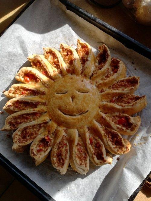 Sonnen-Pizza mit Hackfleisch