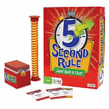 A challenging competition that will have players naming three things from a selected card that fall into a particular category. The peak of the challenge, however, comes from the fact that players need to name those three things in a fleeting five seconds or less. This game includes 576 questions on 288 cards and a red and yellow twisted marble five-second timer. This fast-paced game is designed for three or more players, and it is recommended for ages 10 and older.