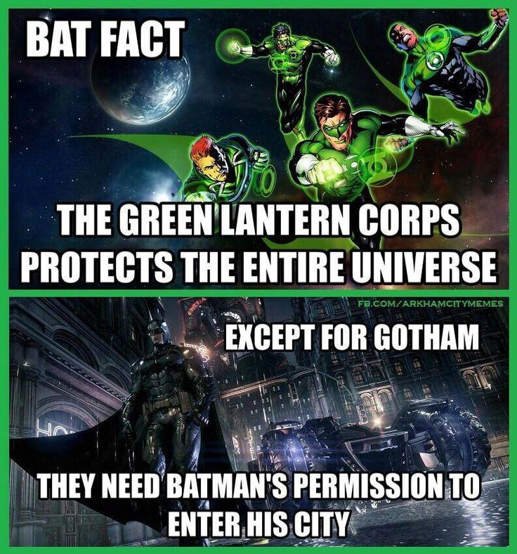 Bat fact 1: unless Hal and his Lantern Corps wanted to be treated 'specially' like other Arkham inmates, then they are welcome to fly into Gotham's Blackgate...