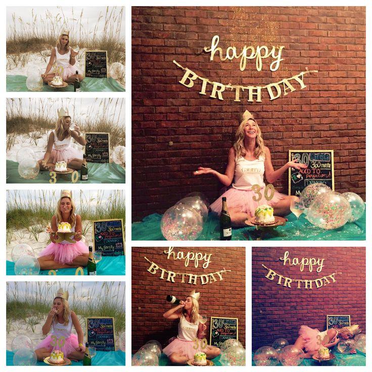 30th Birthday smash cake photo shoot ideas