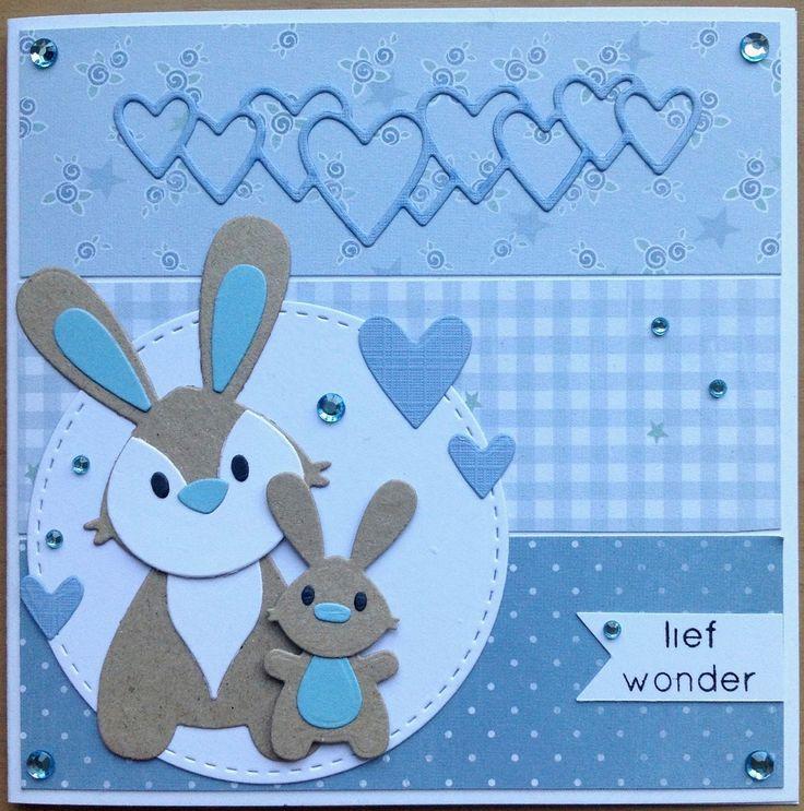 Deze kaart maakte ik met de lieve nieuwe baby-spulletjes van Marianne Design. Wat schattig is het kleine konijntje he? De hartjes die u...