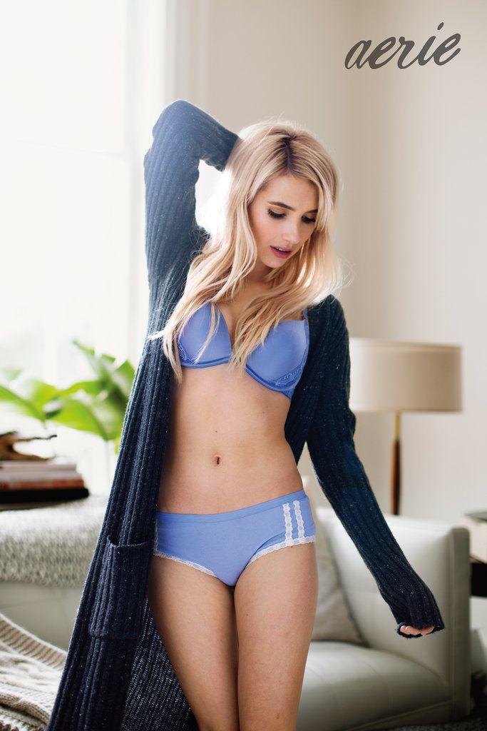 Emma Roberts Unretouched Aerie Campaign 2015 | POPSUGAR Fashion