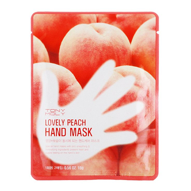 TONYMOLY Lovely Peach Hand Mask 16g*2ea [One-time] - Tonymoly Beautynetkorea Korean cosmetic