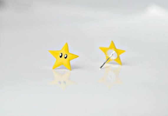 Super Mario Stars earrings