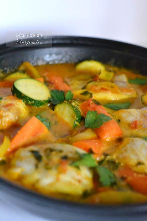 Tagine de poisson aux légumes - Fish Tagine with vegetables