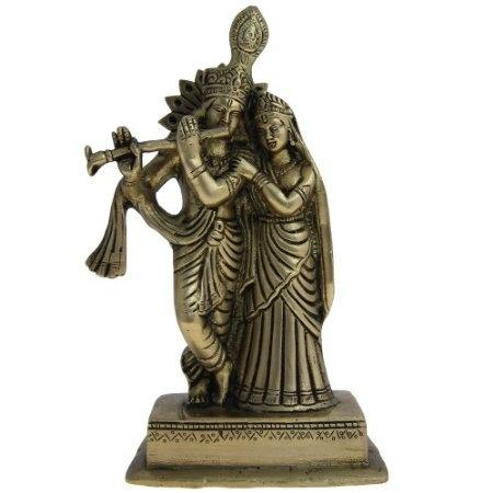 Amazon.com: Brass Figurines Lord Krishna and Radha: Home & Kitchen