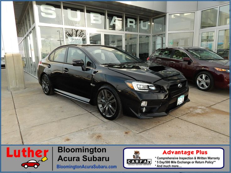 Used 2016 Subaru WRX for sale Minnesota at Luther Bloomington Subaru dealership Minneapolis. Edina. Richfield. Bloomington. 2016 WRX Limited AWD Limited Sedan 6M for sale near Minneapolis. Used WRX for sale. 2016 Subaru WRX. Black WRX. WRX for sale.