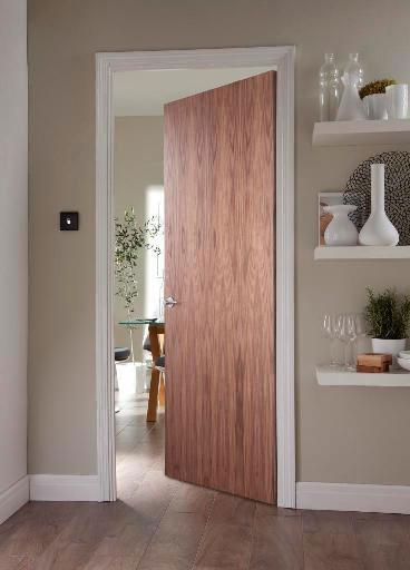 New walnut veneer door from JELD-WEN