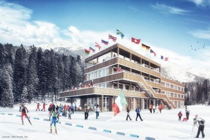 Biahtlon Arena Lenzerheide lädt ein Eröffnung Nordic House 400 Athleten aus sechs Nationen des Alpenraums werden am ersten Dezemberwochenende den Alpencup in der Biathlon Arena der Lenzerheide austragen. Für jeden Biathlon-Fan also ein Termin, den man sich im Kalender anstreichen sollte.