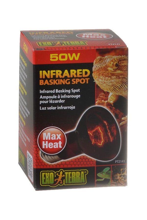 Exo Terra Infrared Basking Spot For Reptiles 50 Watt Reptile Light Free Shipping 50 Excellent 24 Hours Radiant Heat S Infrared Reptile Lights Radiant Heat