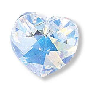 Swarovski® crystal AB heart, 18x17.5mm pendant pk1
