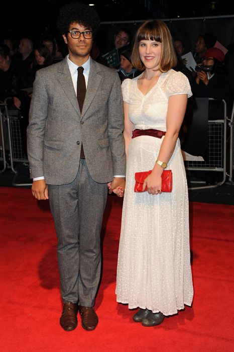 Richard Ayoade with guest at the London Film Festival premiere of The Double